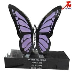 vivid  butterfly shaped memorials