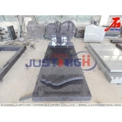 Heart shaped granite headstones monument